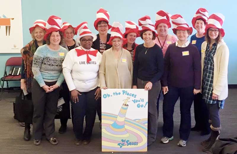 """Crew of Crazy Chapeaux"" aka members of the Women's Leadership Council of United Way of Lake County."