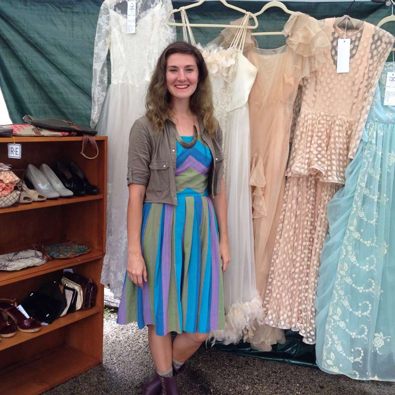 Erin Conley, owner of Novel Nellie, which features vintage and handmade clothing. I purchased one of Erin's skirts and am wearing it to the festivities today! One more great thing about Erin--she grew up right here in Long Grove!