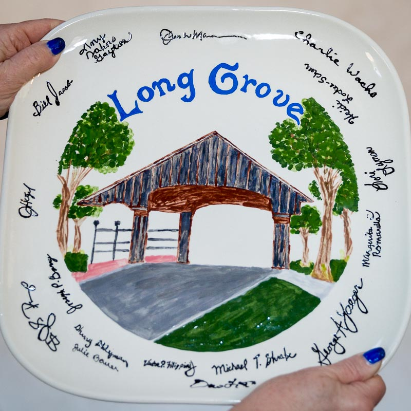 Former Village Clerk Heidi Locker-Scheer (with help from staff & trustees) created this thoughtful keepsake to honor my years of service to the Village.