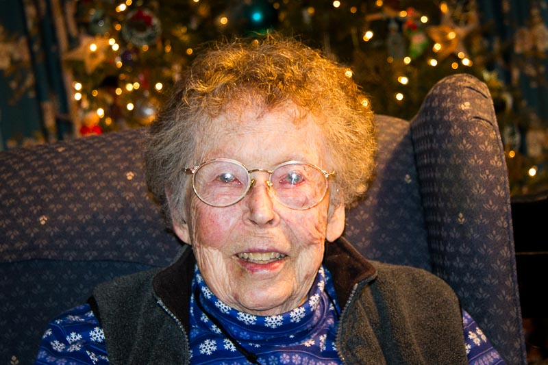 Longtime resident Barbara Turner, pictured in December of 2014.