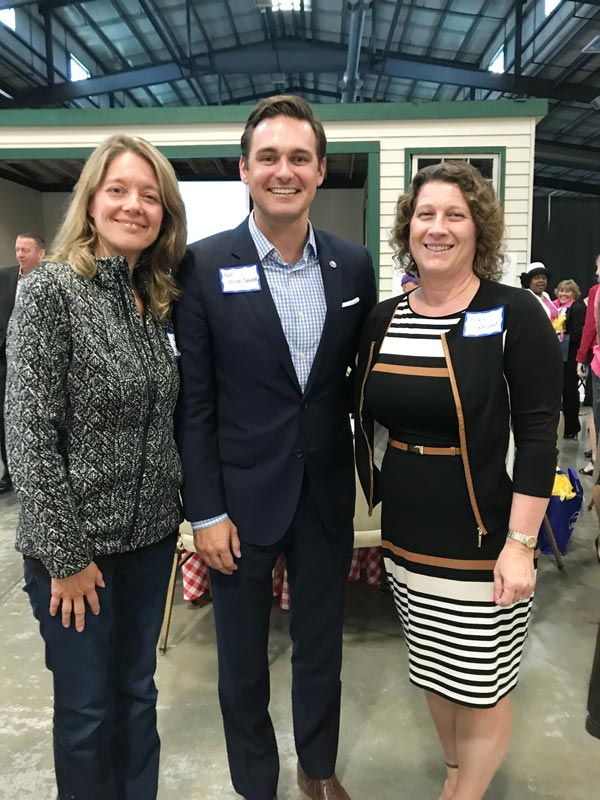 Attending the Visit Lake County annual meeting on September 6th: Village Clerk Amy Gayton (L), State Representative Nick Sauer (Center), and Historical Society President Angie Underwood (R).