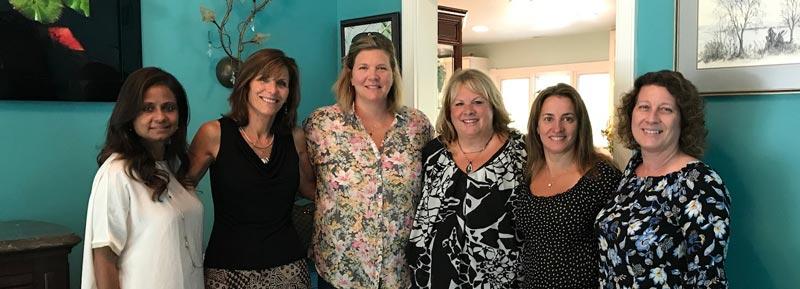 Members of the Long Grove-Kildeer Neighbors and Newcomers Club (L to R): Sandi