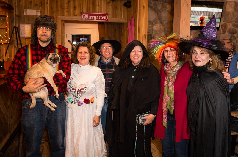 A few of the many Long Grove spooks and spirits who volunteered to make the Ghost Walk come alive!