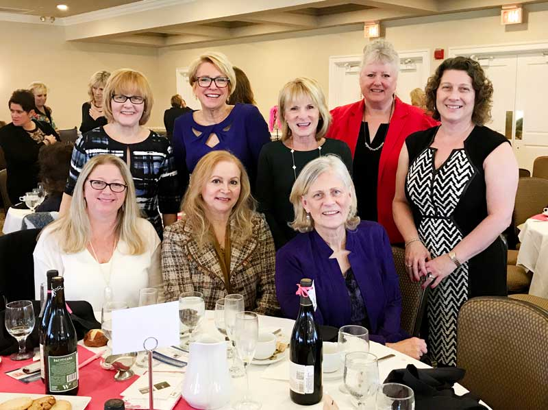 Attending the Power of the Purse event on Nov. 5, 2017 (L to R) standing: Heidi Locker-Scheer, Maria Rodriguez, Vicki Juster, Jenny Sen-Gupta, Angie Underwood. Seated: Melissa Dickstein, Nandia Black, and Diane Trickey.