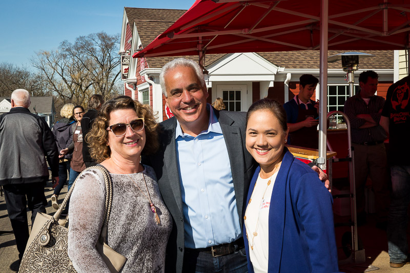 Ethel Berger (on the left) and I offered our congratulations to owner Craig Leva on the Grand Opening of the new location of the Long Grove Confectionery.