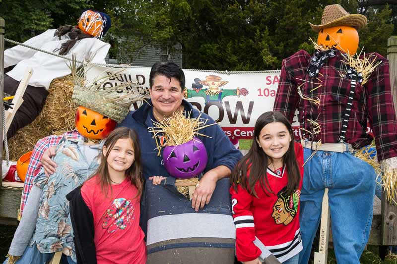 The Gayton family had fun creating one of the scarecrows for the 2015 event.