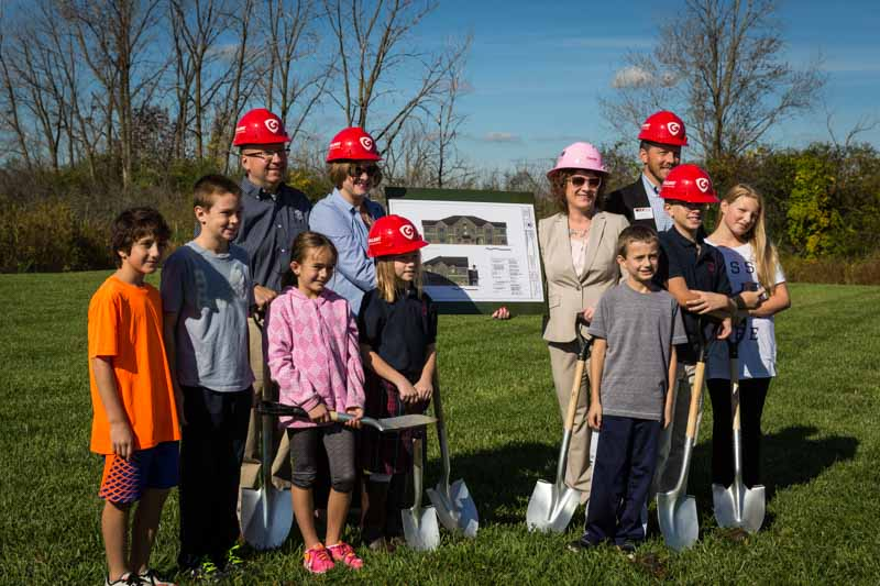 At the ground breaking ceremony this past Saturday for the new Primrose School in Long Grove.