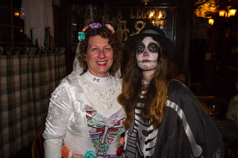 Getting ready to haunt the downtown with merchant Meghan Mariani.