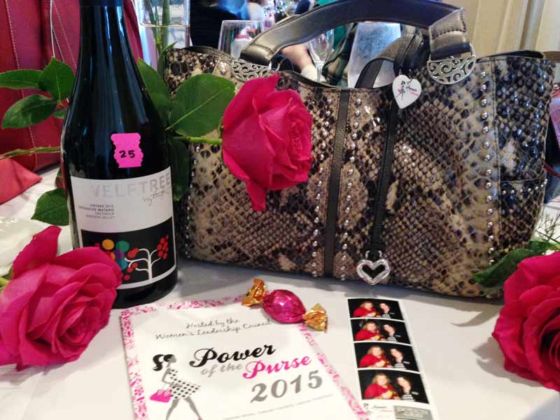 One of the purses auctioned off today to benefit United Way of Lake County.