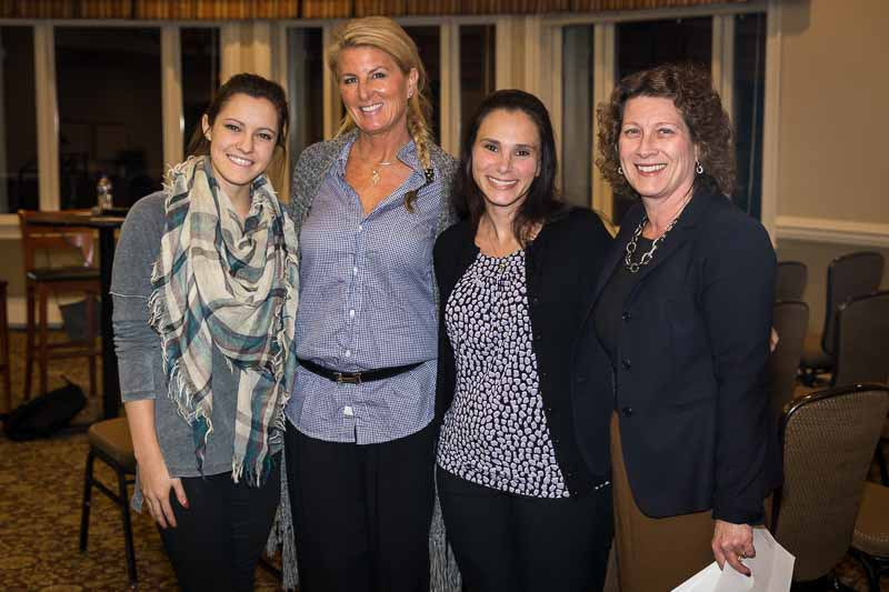 """L to R: Olivia Sorenson, Dianna Kesner, Cristina Cortesi, and I get ready to speak at the Stand Strong """"Mindful Parenting"""" presentation on November 9th, 2015."""