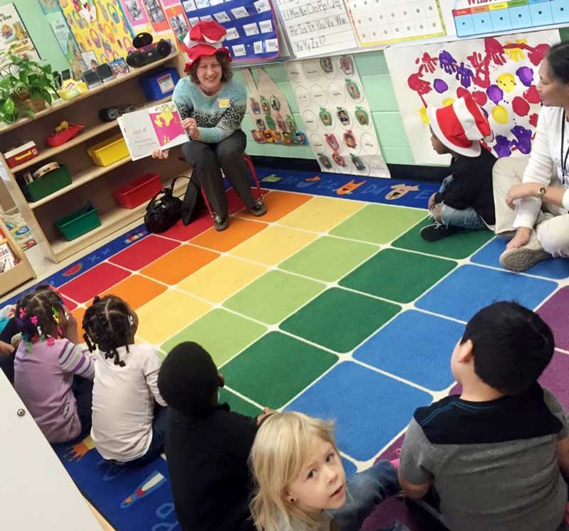Sharing my love of reading with the students at Green Bay Early Childhood Center.
