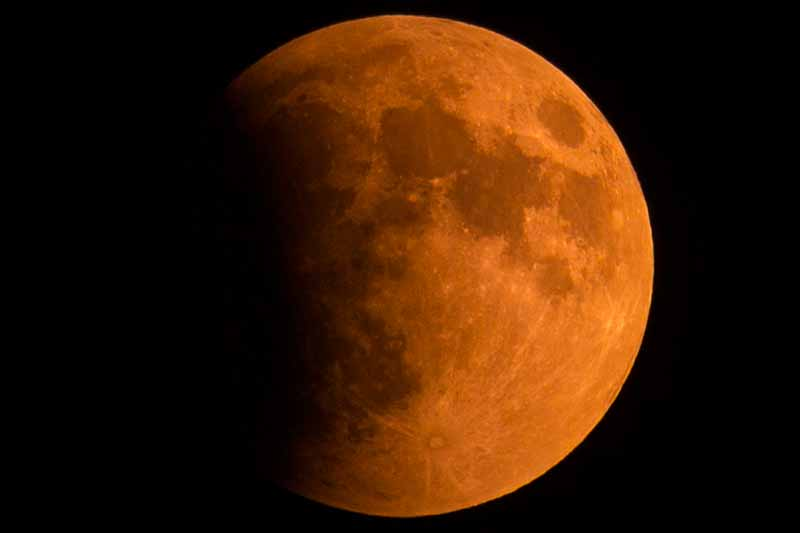 """Photo of the September 27th, 2015 """"Orange Moon"""" Lunar Eclipse taken in Long Grove by Aaron Underwood"""