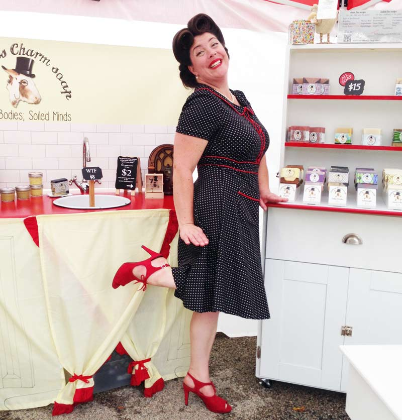 """Ruthie Sudsalot was a delight, and her """"Jackass Charm"""" soaps smell fantastic and are a hoot! With the tag line, """"Clean Bodies, Soiled Minds,"""" they are a perfect gift for that special someone."""