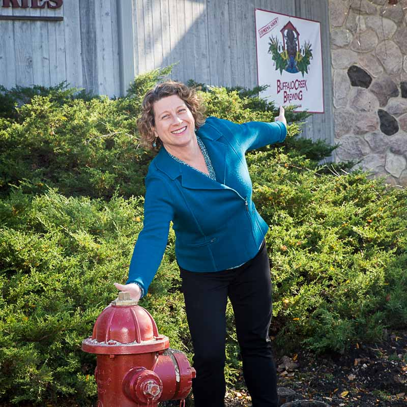 The expansion of our municipal water system has enabled two new things to come to our downtown--water hydrants and Buffalo Creek Brewing!