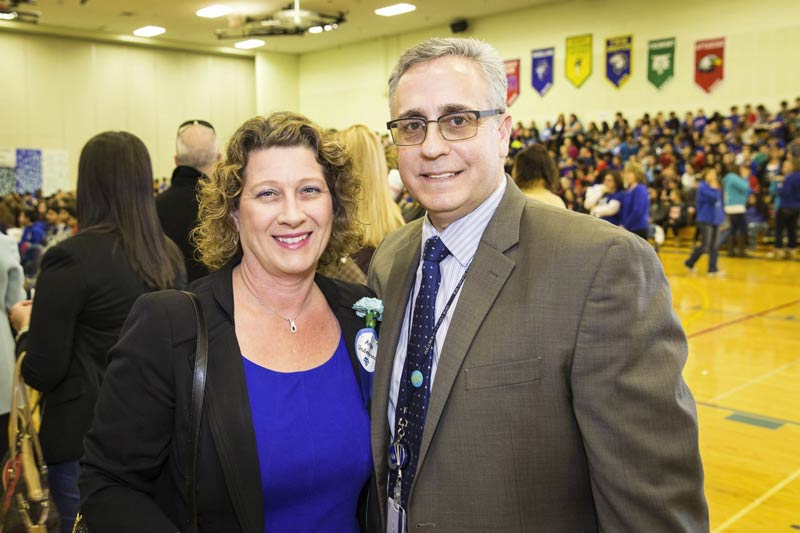 Celebrating Woodlawn Middle School's recent Blue Ribbon Recognition with Principal Greg Grana.