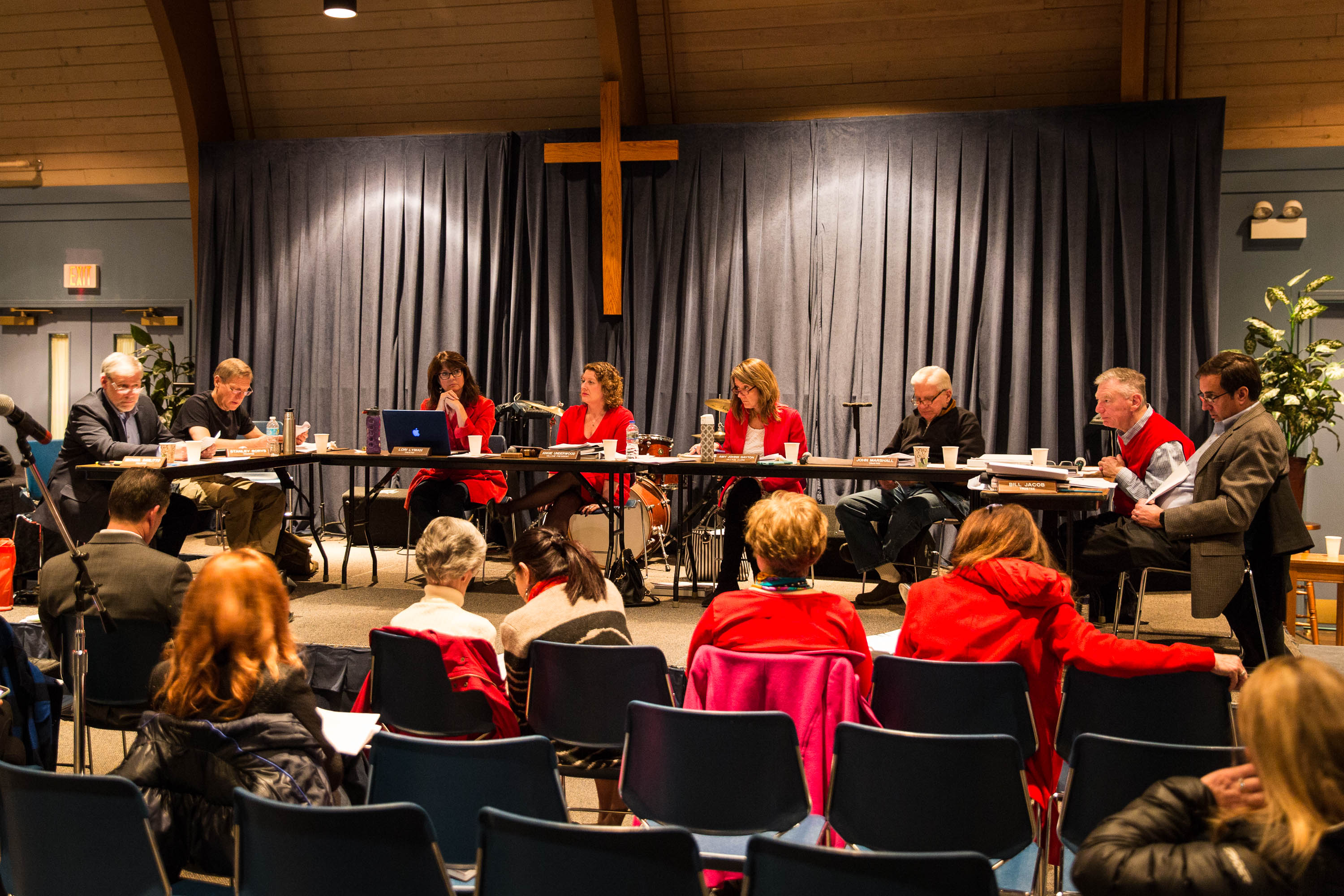 The voices of many in the Long Grove Community Church were heard at the February 14th Village Board meeting.