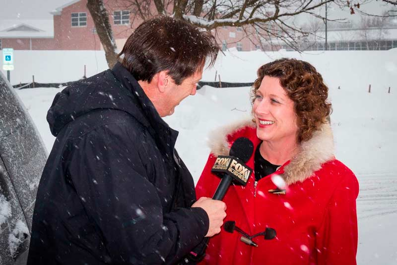 Being interviewed live by anchor Jeff  on Fox Business News in February, 2014.