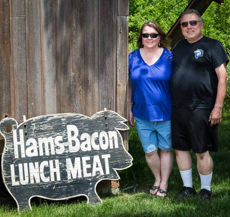 Jane Tiffany-Hansen and Ken Hansen of Grayslake, who graciously donated items from the Smokehouse and Ferry Farms to our Historical Society.