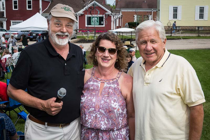 Arts & Music Council concert series founder Tobin Fraley (Left) and loyal concert supporter John Marshall (R) at the July 9, 2017 kickoff concert.