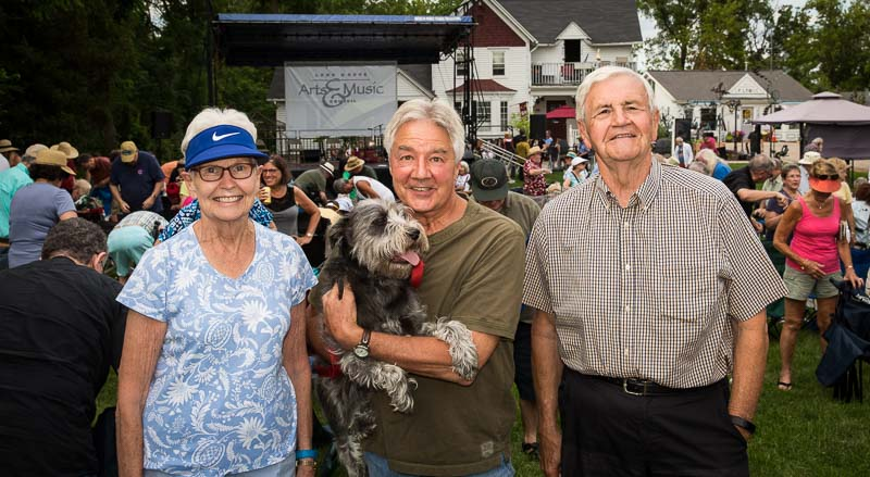 Enjoying the July 9th concert (L to R): Mary Dorner, Mike Dvorak, and George Dorner.