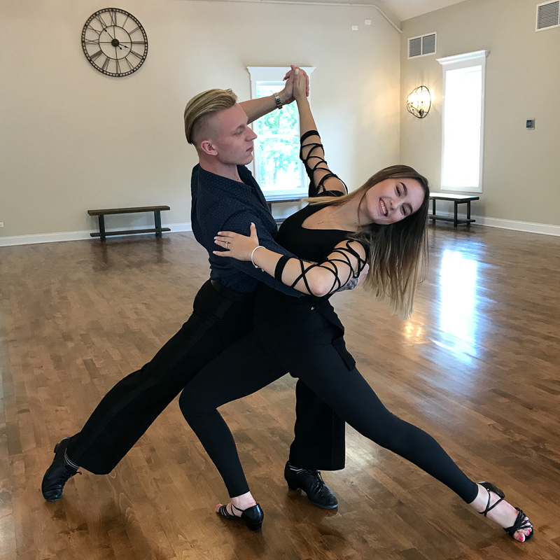 Not sure that we will ever strike as lovely a pose as our dance instructors Vlad and Brianna Nalyvaychuk, but we are having fun trying!
