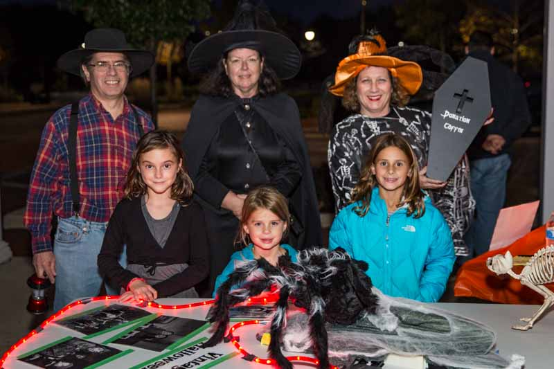 Historical Society volunteers Doug & Jane Primack help me prepare to scare some young residents during the 2016 Ghost Walk.
