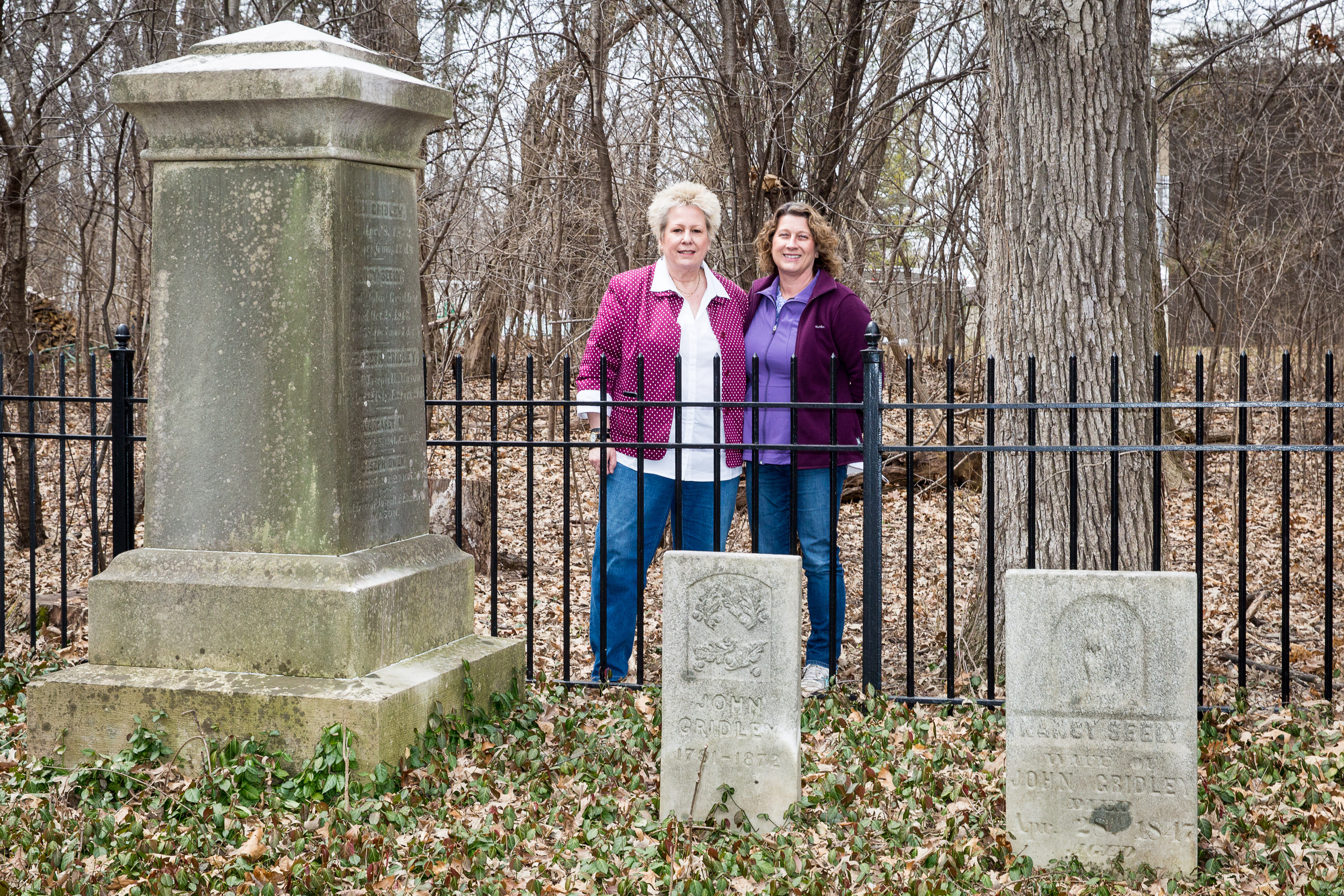 Sharon Gridley paid a recent visit to see the spot where her pioneer ancestors are buried.
