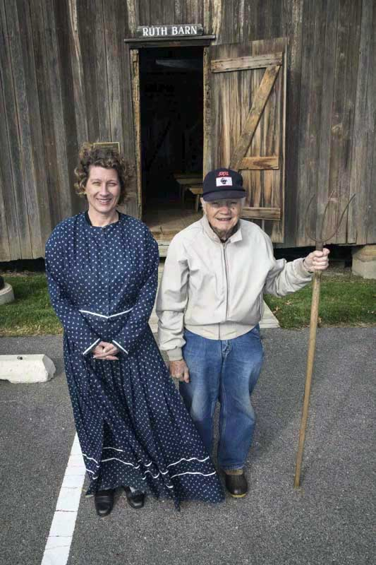 Lee Bassett was my favorite docent to partner with at the Ruth Barn. Here he is pictured with one of the pitchforks he loved to showcase.