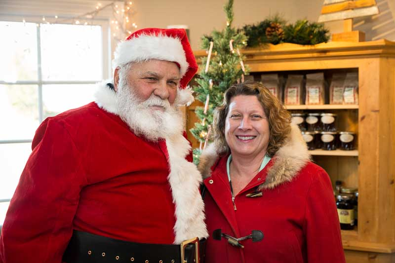 Sharing a laugh with Jolly Old St. Nick this morning at the Long Grove Coffee Company.